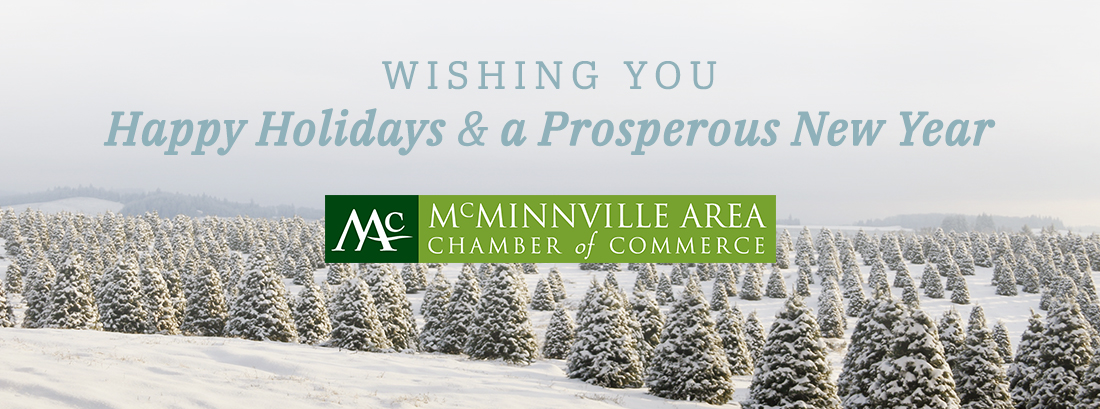 Happy Holidays from McMinnville Area Chamber of Commerce