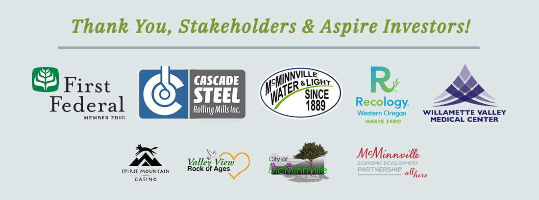 McMinnville Area Chamber of Commerce Stakeholders & Aspire Investors