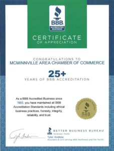 25+ Years of BBB Accreditation