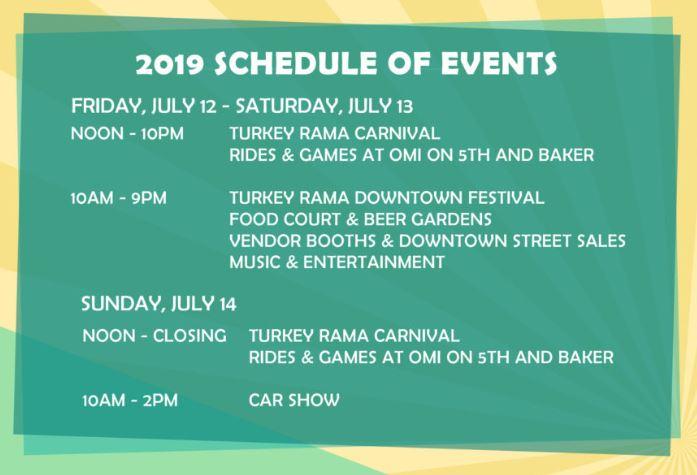 2019 MCMINNVILLE TURKEY RAMA, JULY 12 - 14, 2019