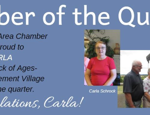 McMinnville Area Chamber of Commerce Honors Carla Schrock as a Community Champion
