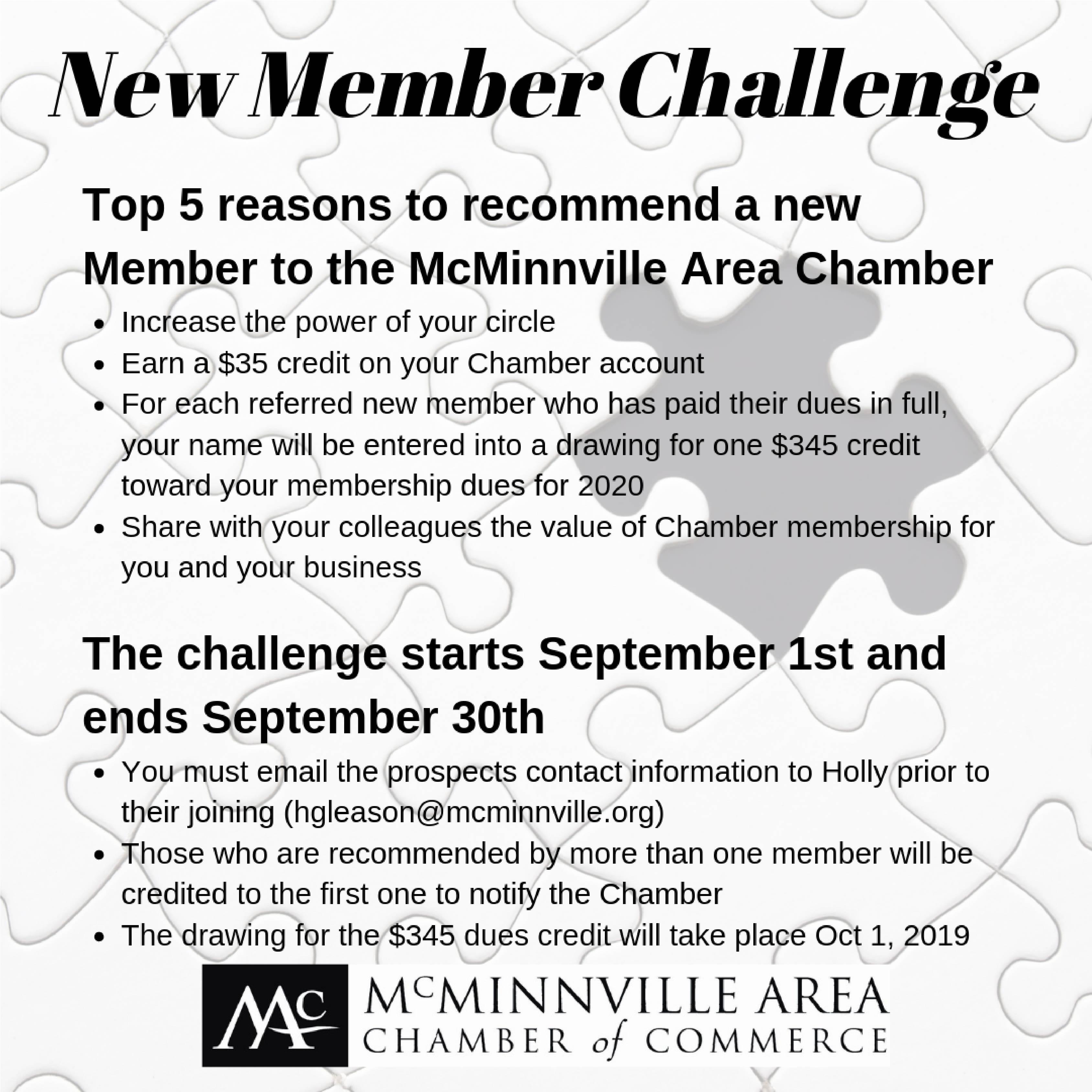 September New Member Challenge