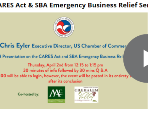 The CARES Act & SBA Emergency Business Relief Services