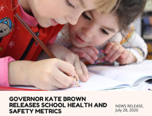 Governor Kate Brown Releases School Health and Safety Metrics