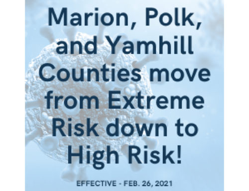 Marion, Polk, and Yamhill Counties Move from Extreme Risk Down to High Risk